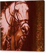 Horse Painting Jumper No Faults Soft Browns Canvas Print