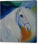 Horse Painting- Knight In Dream Canvas Print
