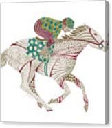 Horse Racer Canvas Print