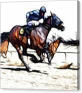 Horse Racing Dreams 1 Canvas Print