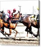 Horse Racing Dreams 2 Canvas Print