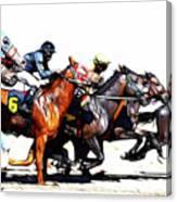 Horse Racing Dreams 3 Canvas Print