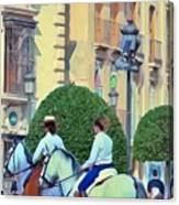 Horse Riding 2 Canvas Print