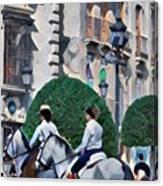 Horse Riding 3  Canvas Print