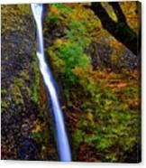 Horse Tail Falls - Autumn  Canvas Print