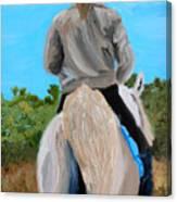 Horseback Ridding Canvas Print