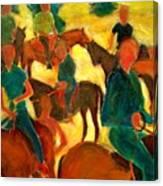 Horseback Riders Canvas Print