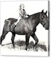 Horseback Riding Canvas Print