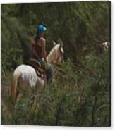 Horseback Riding Kauai Trail Canvas Print