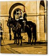 Horseguards Inspection. Canvas Print
