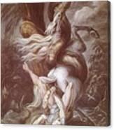 Horseman Attacked Canvas Print