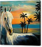 Horses In Paradise  Tell Me Your Dream Canvas Print