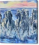 Horses Of The Sea Canvas Print