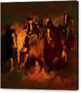 Horses Paintings 34b Canvas Print