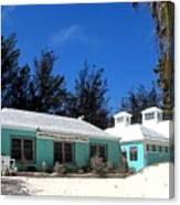 Horseshoe Beach Centre Bermuda Canvas Print