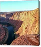 Horseshoe Bend Colorado River Arizona Usa Canvas Print