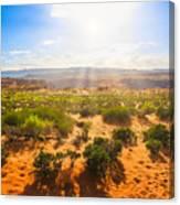 Horseshoe Bend Desert Canvas Print