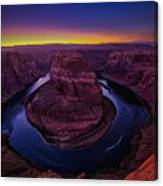 Horseshoe Sunset Canvas Print