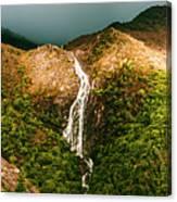 Horsetail Falls In Queenstown Tasmania Canvas Print