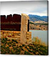 Horsetooth Peak Above The Reservoir Canvas Print