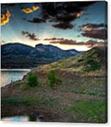 Horsetooth Reservior At Sunset Canvas Print