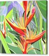 Hort Park Heliconia Canvas Print