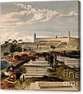 Hospital And Cemetery At Scutari, C.1854 Canvas Print