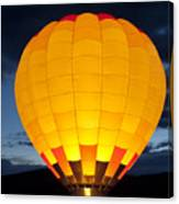 Hot Air Balloon Glow Canvas Print