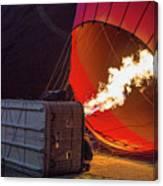 Hot Air Balloon. Inflation. Canvas Print