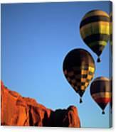 Hot Air Balloon Monument Valley 5 Canvas Print
