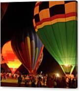 Hot Air Balloons At Night October 28, 2017 #2 Canvas Print
