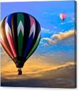 Hot Air Balloons At Sunset Canvas Print