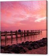 Hot Bay Sunset Canvas Print