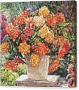 Hot Begonia Canvas Print