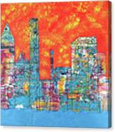 Hot Day In The City Canvas Print
