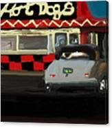 Hot Dogs And A Juke Box. Canvas Print