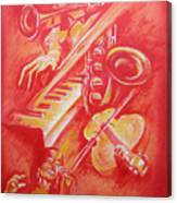 Hot Jazz Canvas Print