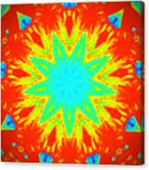 Hot Kaleidoscope Flower Canvas Print