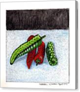 Hot Peppers Take1 Canvas Print