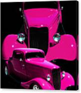 Hot Pink 33  Canvas Print