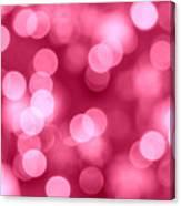 Hot Pink Bokeh Canvas Print