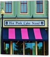 Hot Pink Cake Stand Canvas Print