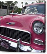 Hot Pink Chevy Canvas Print