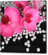 Hot Pink Orchids 2 Canvas Print
