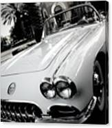 Hot Rod Black And White Canvas Print