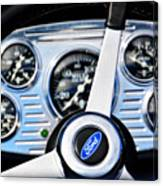 Hot Rod Ford Steering Wheel Canvas Print