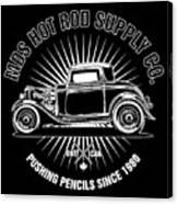 Hot Rod Shop Shirt Canvas Print