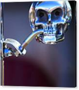 Hot Rod Skull Rear View Mirror Canvas Print