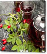 Hot Rosehip Tea In Glass Canvas Print