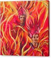 Hot Samba I Triptyche Left Panel Canvas Print